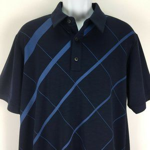 Adidas Golf Large Blue Climacool Polo Shirt Mens